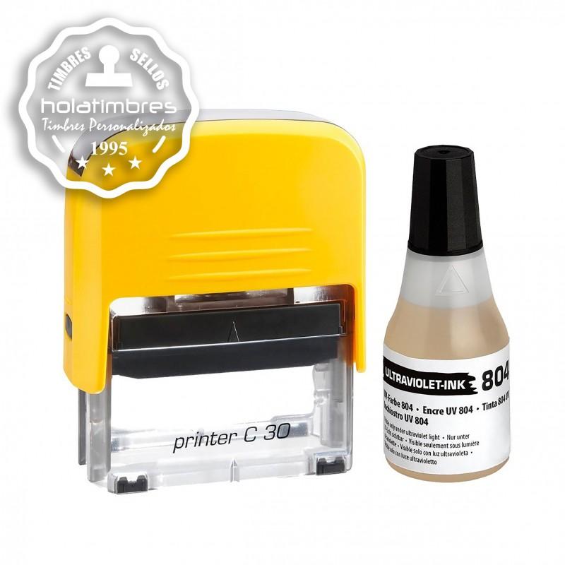 Tinta para timbre automático UV